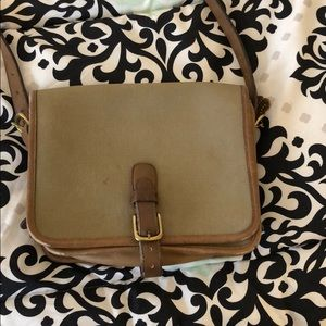 Vintage coach canvas bag